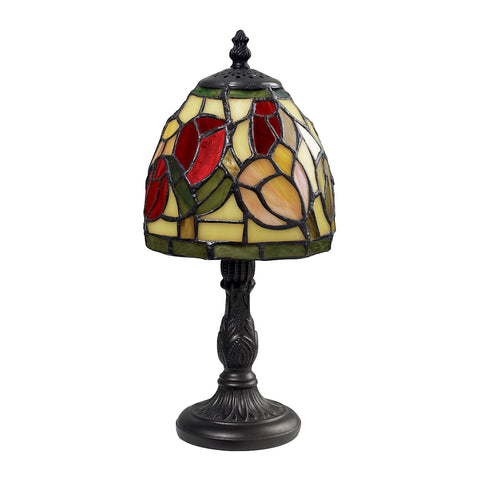Beautiful Dimond Lighting Mini Tiffany Table Lamp In Tiffany Bronze