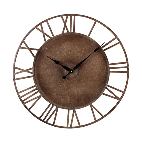Beautiful Sterling  METAL ROMAN NUMERAL OUTDOOR WALL CLOCK.  in  Metal
