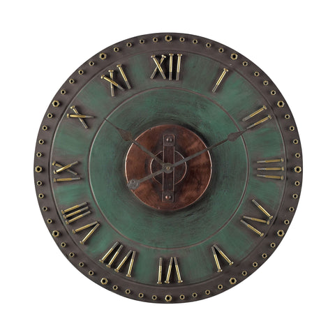 Beautiful Sterling  Metal Roman Numeral Outdoor Wall Clock  in  Metal