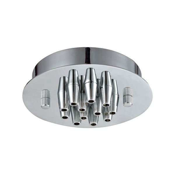Illuminaire Accessories 12 Light Small Round Canopy In Polished Chrome