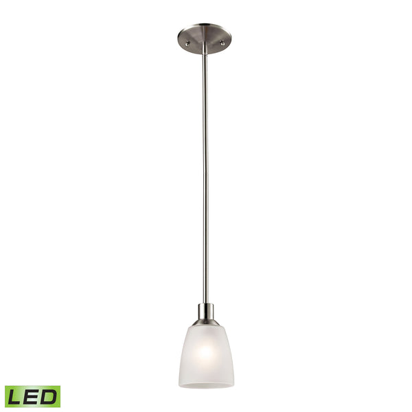 Thomas Jackson 1 Light LED Mini Pendant In Brushed Nickel