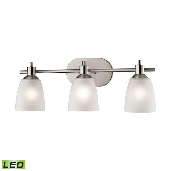 Thomas Jackson 3 Light LED Vanity In Brushed Nickel