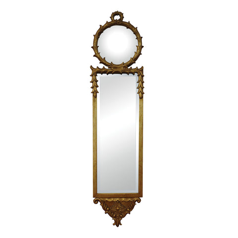 Beautiful Sterling  ANTIQUE REPRODUCTION WALL MIRROR WITH CONVEX TOP MIRROR  in  Metal, MDF, Mirror