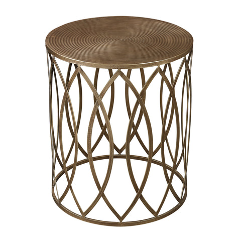 Beautiful Sterling  ACCENT TABLE IN GOLD LEAF  in  Metal