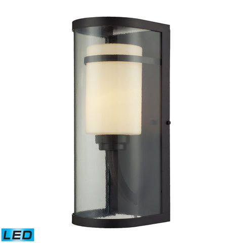 ELK Lighting  Caldwell 1 Light Outdoor Sconce in OiLED Bronze - LED Offering Up To 800 Lumens (60 Watt Equivalent)
