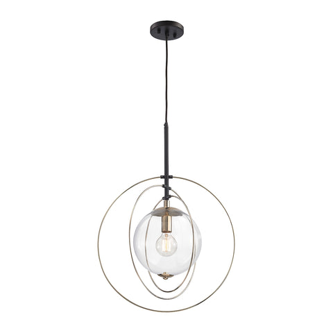 Zonas 1 Light Chandelier In Polished Gold And Oil Rubbed Bronze