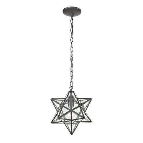Beautiful Sterling  1LIGHT GLASS PENDANT LAMP  in  Glass, Metal