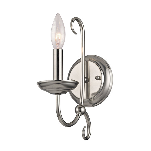 Thomas Williamsport 1 Light Wall Scone In Brushed Nickel