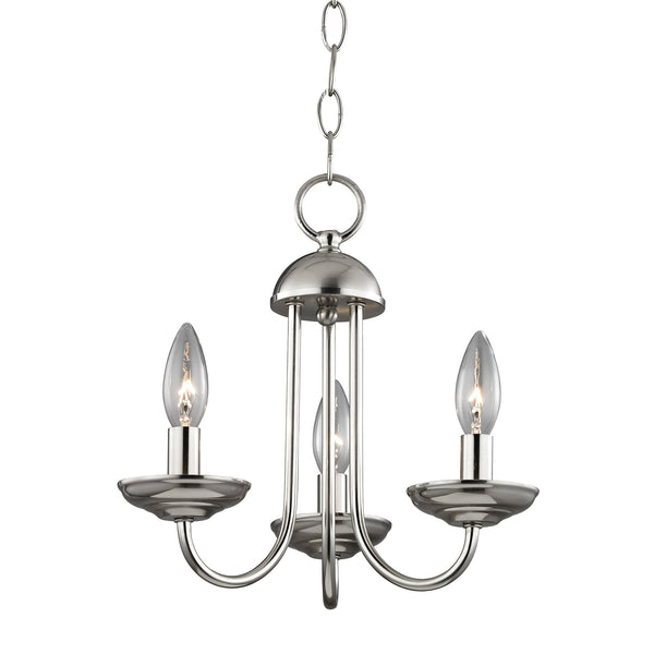 Thomas Williamsport 3 Light Mini Chandelier In Brushed Nickel