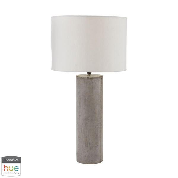 Beautiful Dimond Lighting  Cubix Round Desk Lamp in Natural Concrete - with Philips Hue LED Bulb/Bridge  in  Concrete