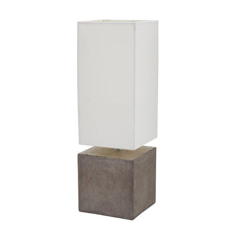 Beautiful Dimond Lighting Cubix Square Desk Lamp In Natural Concrete