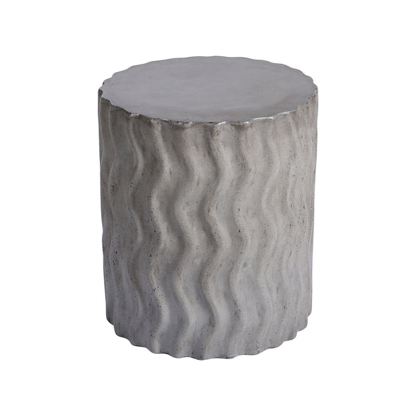 Beautiful Dimond Home  Wave Stool - Indoor / Outdoor  in  CONCRETE