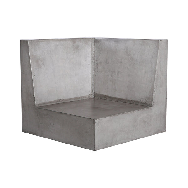 Beautiful Dimond Home  Lannister Outdoor Sofa - Corner Unit  in  CONCRETE