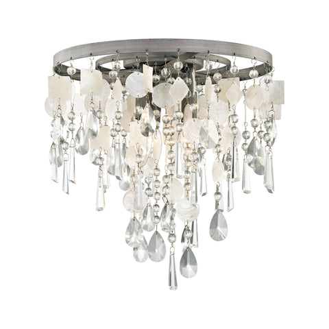 Elk Alexandra 3 Light LED Semi Flush In Weathered Zinc Semi Flush item number 15931/3
