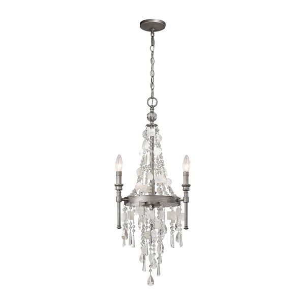 Alexandra 3 Light LED Chandelier In Weathered Zinc