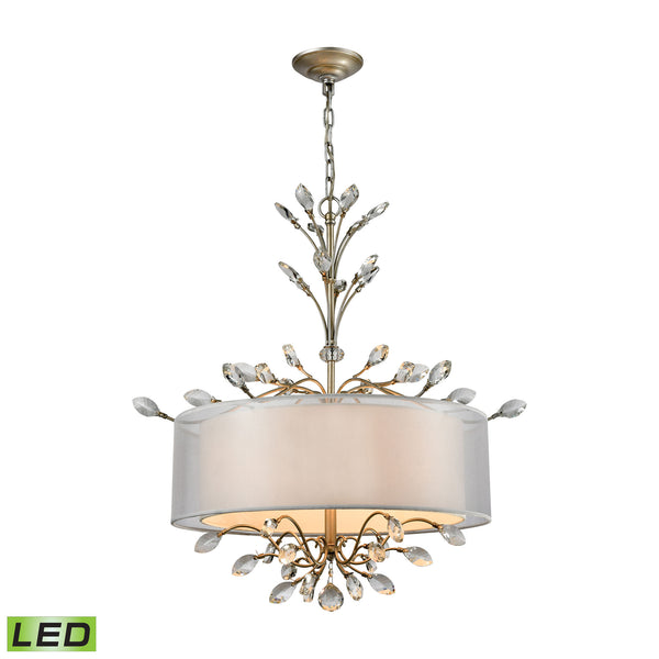Asbury 4 Light LED LED Chandelier In Aged Silver