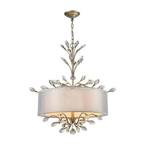 Asbury 4 Light LED Chandelier In Aged Silver