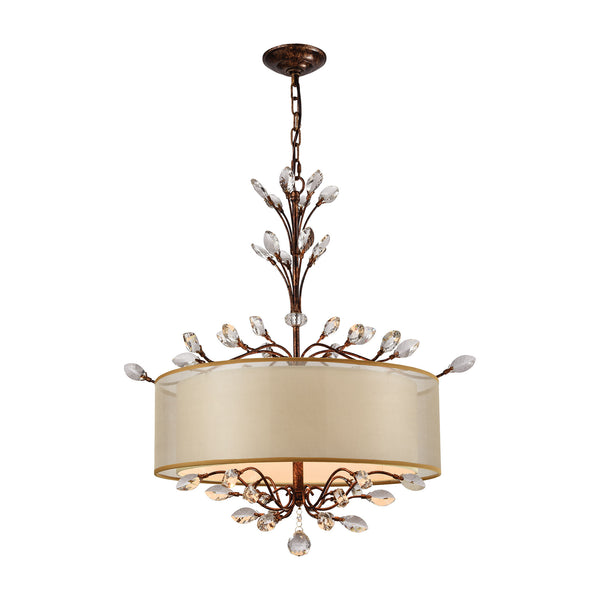 Asbury 4 Light LED Chandelier In Spanish Bronze