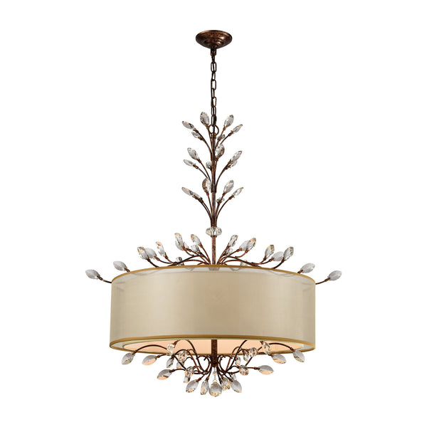 Asbury 6 Light LED Chandelier In Spanish Bronze
