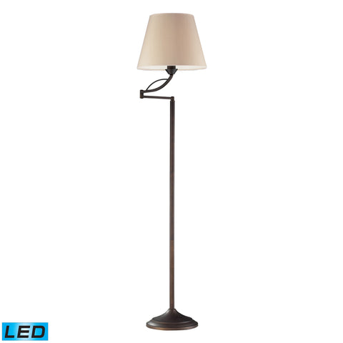 Beautiful Dimond Lighting  1- Light Floor Lamp In Aged Bronze - LED Offering Up To 800 Lumens (60 Watt Equivalent) With Full Ra  in  Steel