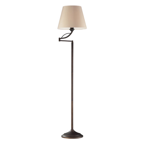 Beautiful Dimond Lighting  Elysburg 1-Light Floor Lamp in Aged Bronze  in  Steel
