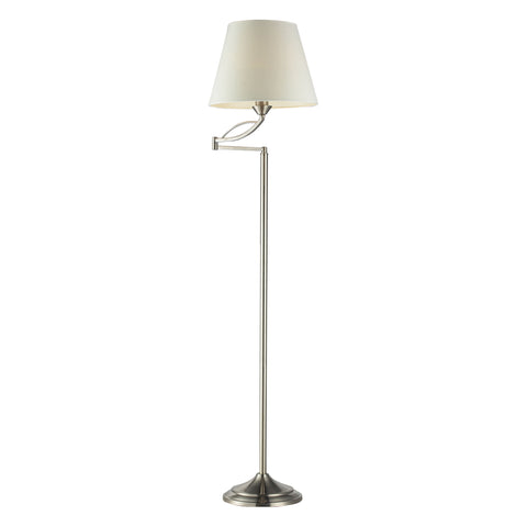 Beautiful Dimond Lighting  Elysburg 1-Light Floor Lamp in Satin Nickel  in  Steel