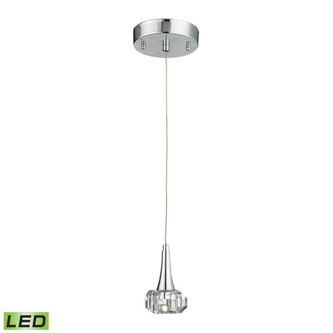 Alea 1 Light LED Pendant In Polished Chrome