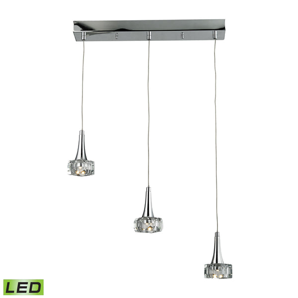 Alea 3 Light LED Pendant In Polished Chrome