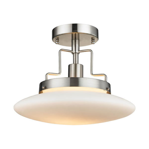 Anza 1 Light Semi Flush In Brushed Nickel
