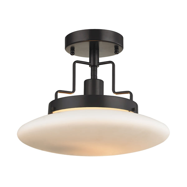 Anza 1 Light Semi Flush In Oil Rubbed Bronze