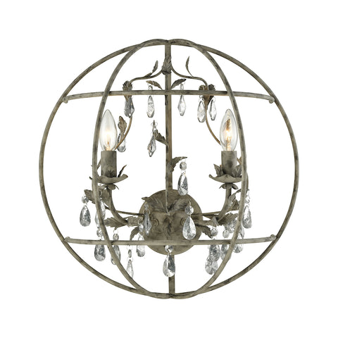 Bridget 2 Light Wall Sconce In Marble Gray
