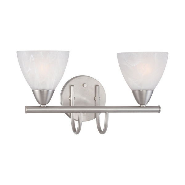 Thomas TIA wall lamp Matte Nickel 2x100W 120V