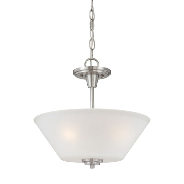 Thomas PITTMAN pendant Brushed Nickel 2x100W
