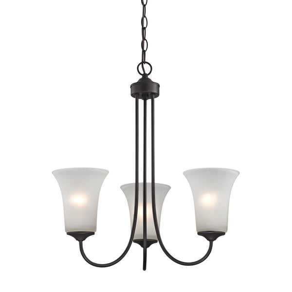 Thomas Charleston 3 Light Chandelier In Oil Rubbed Bronze