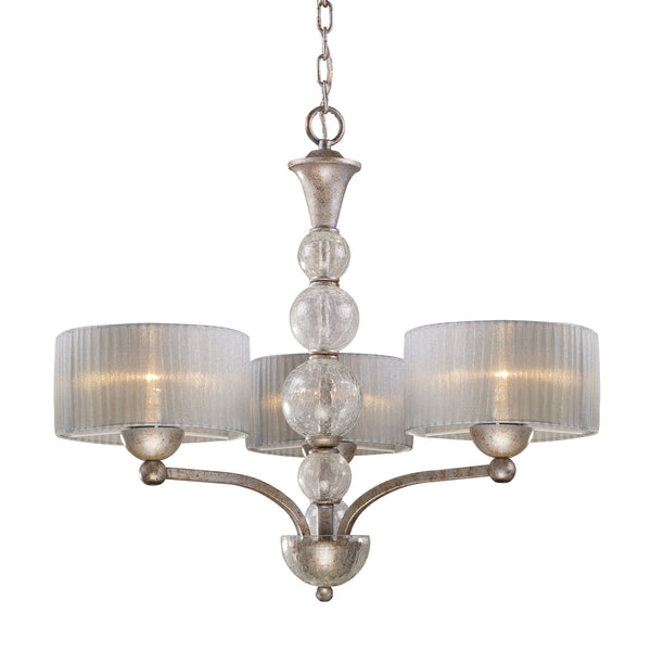 Alexis 3 Light Chandelier In Antique Silver