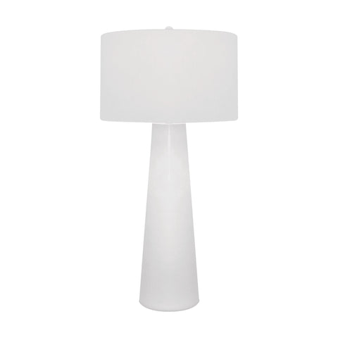 Beautiful Dimond Lighting White Obelisk Table Lamp With Night Light