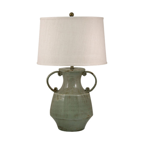 Beautiful Dimond Lighting  Antiqued Porcelain Table Lamp In Celadon Crackle Finish  in  Ceramic