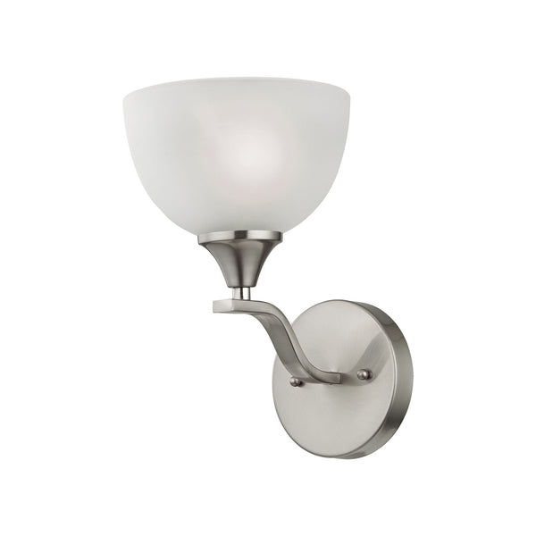 Thomas Bristol Lane 1 Light Wall Scone In Brushed Nickel