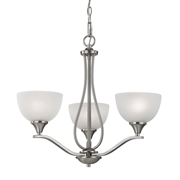 Thomas Bristol Lane 3 Light Chandelier  In Brushed Nickel