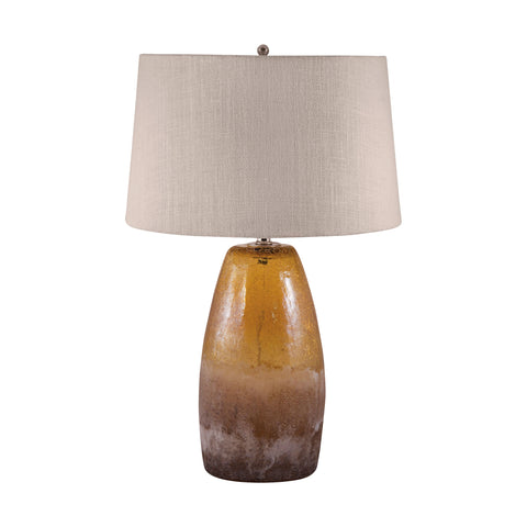 Beautiful Dimond Lighting Amber Crackle Arctic Glass Table Lamp