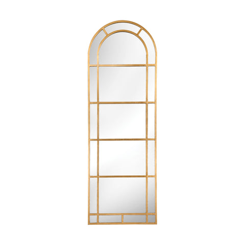 Beautiful Sterling  Arched Pier Mirror In Gold  in  Metal, Mirror
