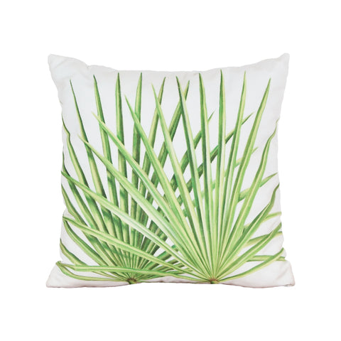 Beautiful GuildMaster  Leaf 3 Hand-painted 20x20 Outdoor Pillow  in  Polyester Fabric, Polyfil