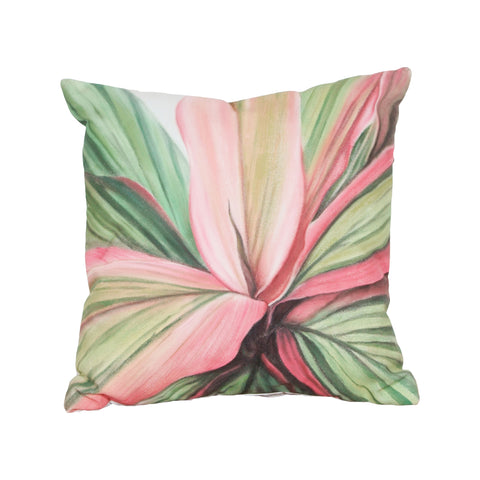 Beautiful GuildMaster  Leaf 6 Hand-painted 20x20 Outdoor Pillow  in  Polyester Fabric, Polyfil