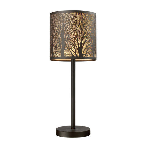 Beautiful Dimond Lighting Woodland Sunrise 1 Light Portable Lamp In Aged Bronze