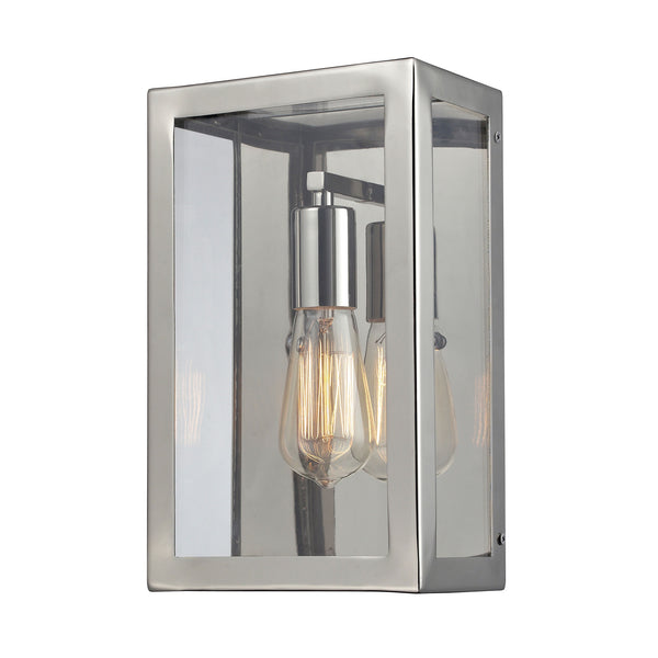 Parameters 1 Light Wall Sconce In Polished Nickel