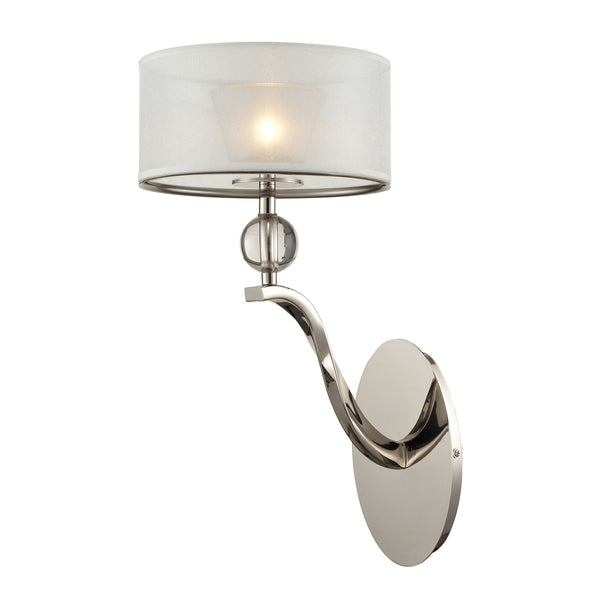 Corisande 1 Light Sconce In Polished Nickel