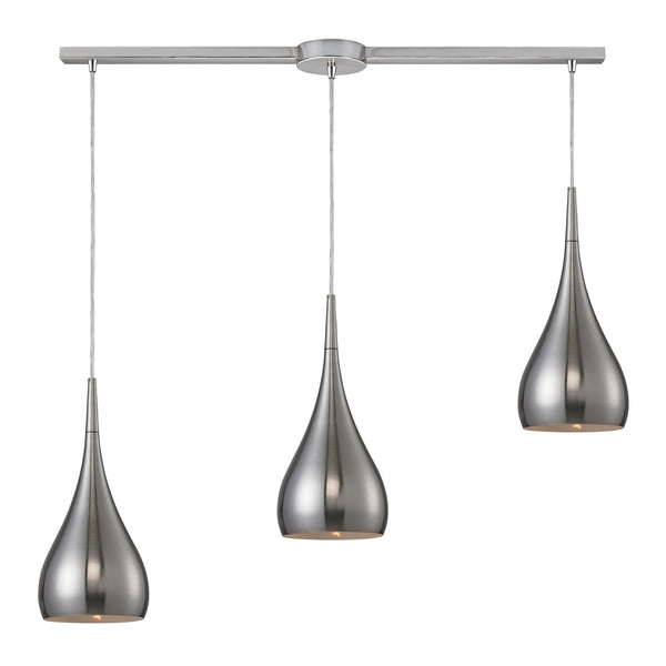 Lindsey 3 Light Pendant In Satin Nickel