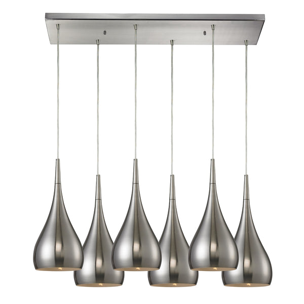 Lindsey 6 LED Light Pendant In Satin Nickel