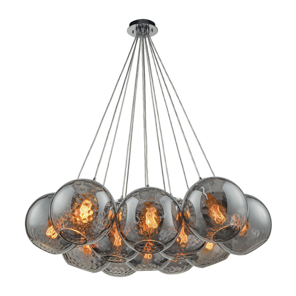 Watersphere 12 Light Pendant In Polished Chrome