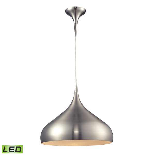 Lindsey 1 Light LED Pendant In Satin Nickel